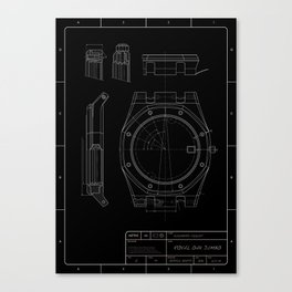 Audemars Piguet Royal Oak blueprint Canvas Print