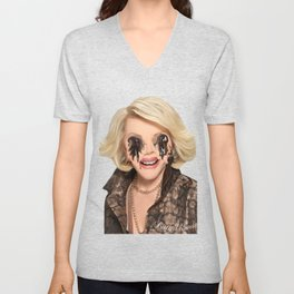 JOAN RIVERS VISITS A PLASTIC SURGEON IN HELL Unisex V-Neck