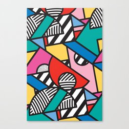 Colorful Memphis Modern Geometric Shapes - Tribal Kente African Aztec Canvas Print