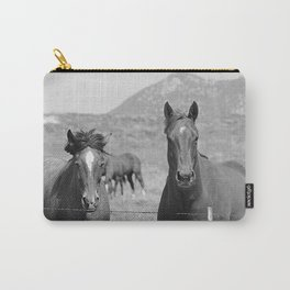 Horses Staring Carry-All Pouch