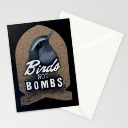 Birds not Bombs Stationery Cards
