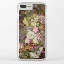 Vintage mosaic floral still life Clear iPhone Case