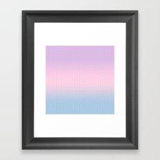 GINGHAM ILLUSION Framed Art Print