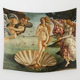 The Birth of Venus - Nascita di Venere by Sandro Botticelli Wall Tapestry