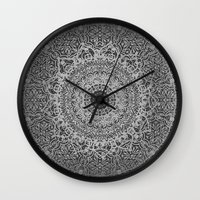 islam Wall Clocks featuring Ash Mandala by Mantra Mandala
