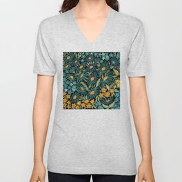 Watercolor . Chamomile field. 2 Unisex V-Neck