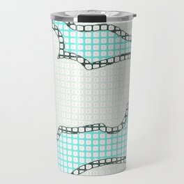 Paint by Number Clouds  Travel Mug