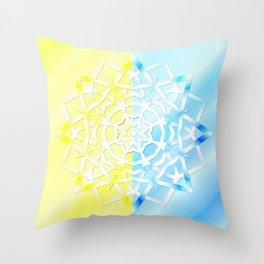Mandala snowflake Throw Pillow