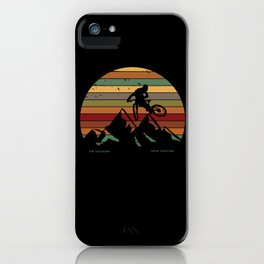 Downhill Downhill Mountain Bike MTB iPhone Case