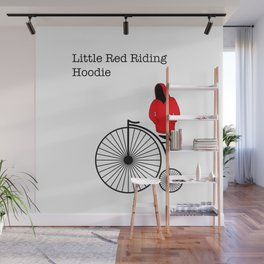 red riding hoodie, penny farthing Wall Mural