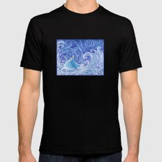 .:Let the Storm Rage On:. MEDIUM Black Mens Fitted Tee