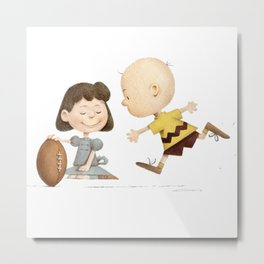 Mr Brown Snoopy Metal Print