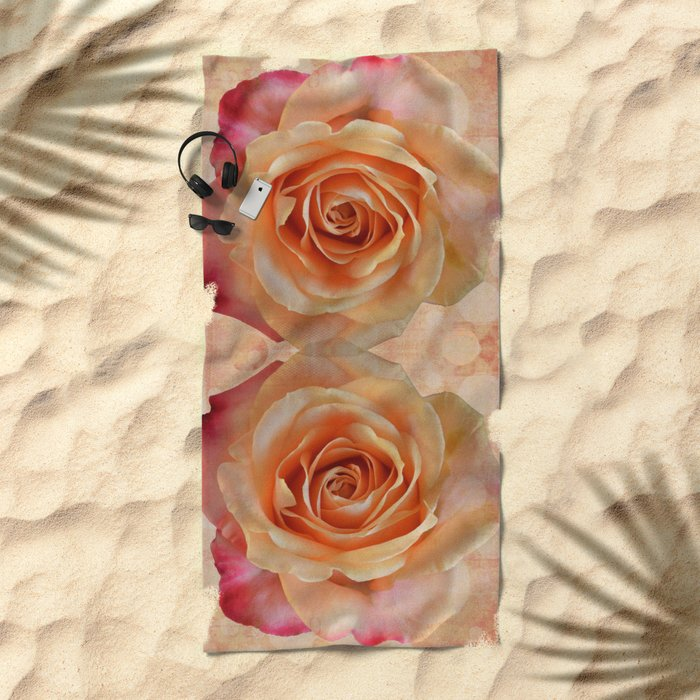 A gorgeous rose in full bloom Beach Towel
