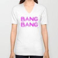 minaj V-neck T-shirts featuring BANG BANG by Joe Alexander