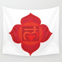 Muladhara Root Red Chakra Wall Tapestry