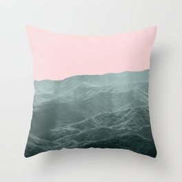 Smoky Mountain Summer Throw Pillow
