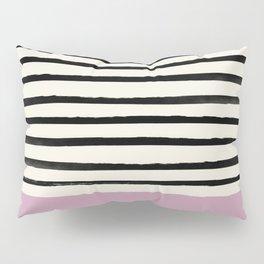 Dusty Rose & Stripes Pillow Sham