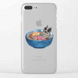Frenchie Ramen Clear iPhone Case