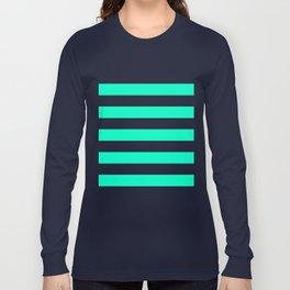 Mint White Stripes Long Sleeve T-shirt
