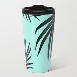Palm Leaves Pattern Summer Vibes #7 #tropical #decor #art #society6 Travel Mug