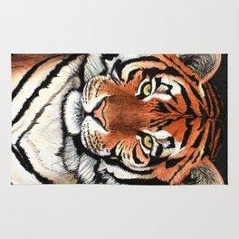 Tiger portrait drawing Rug