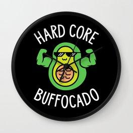 Hard Core Buffocado Wall Clock