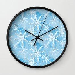 Blue Snowflakes #2 Wall Clock