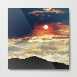 The Wallow's Fire of 2008.... Metal Print
