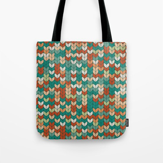Knitted colors Tote Bag