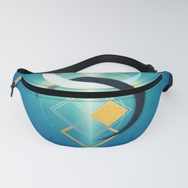 Crescent Moon Double :: Floating Geometry Fanny Pack