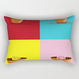Four Pots Rectangular Pillow