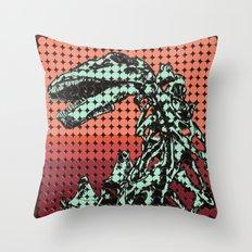 Apatosaurus Skeleton Throw Pillow