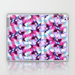 Rainbow Down Abstract Watercolor Painting Laptop & iPad Skin