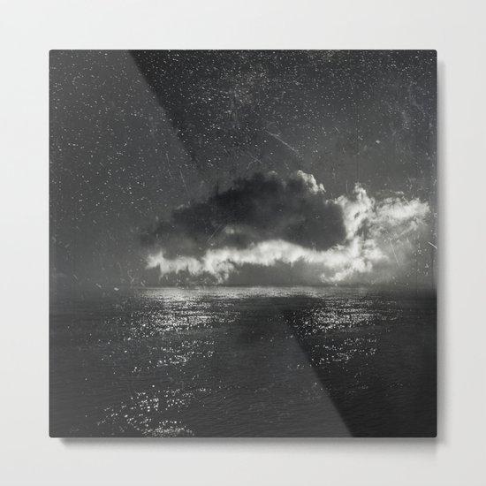 bright cloud - black sea Metal Print