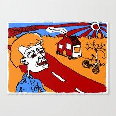 european bicycle ride Canvas Print