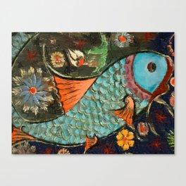 Fish Mosaic Canvas Print