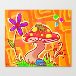 Shroom Lizard Canvas Print