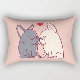 French Kiss Rectangular Pillow