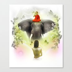 The monk's blessing Canvas Print