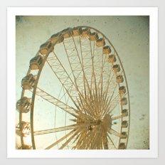 Golden Wheel Art Print