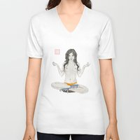 converse V-neck T-shirts featuring Converse Buddha by Bryan James