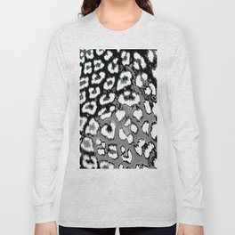 Black and White Leopard Spots Long Sleeve T-shirt