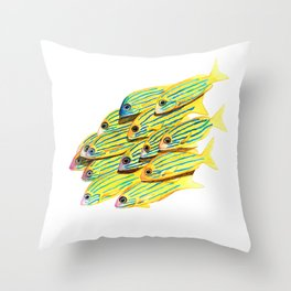 Five Lined Snapper Throw Pillow