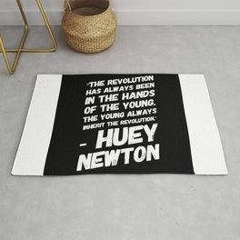 The Revolution of The Young - Huey Newton Rug