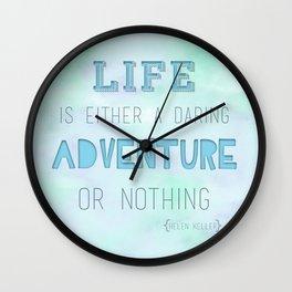 Life Adventure Wall Clock