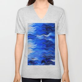 Abstract Composition 285 Unisex V-Neck