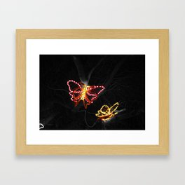 Light in Flight - Selective Coloring Framed Art Print