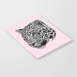 Amur leopard cub - pink - big cat Notebook