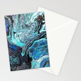 Blue Explosion Stationery Cards