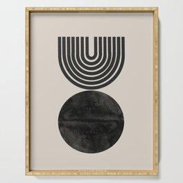 Woodblock Print, Modern Art Serving Tray
